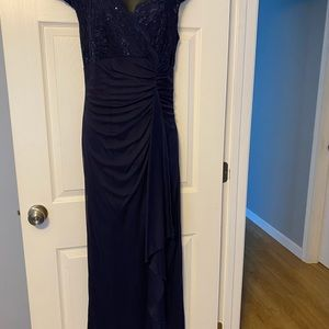 Onyx Dresses - Navy Blue Sequin Gown
